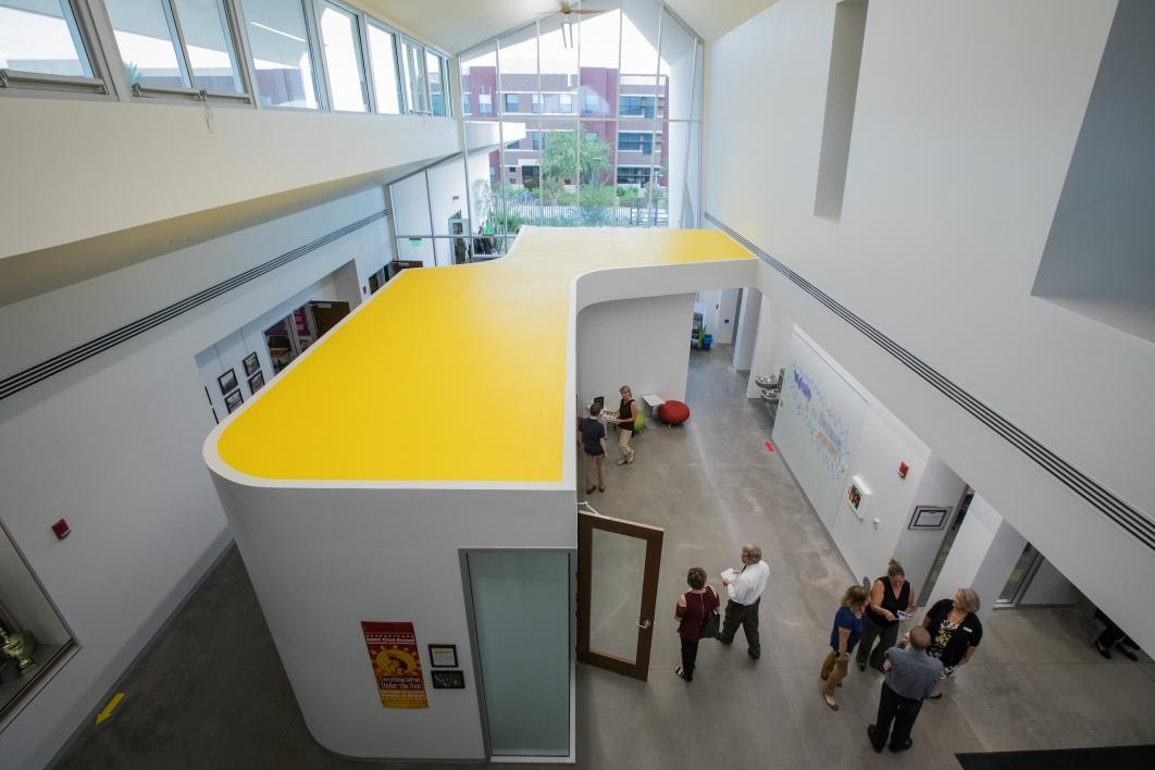 Interior of new Herberger Young Scholars Academy building
