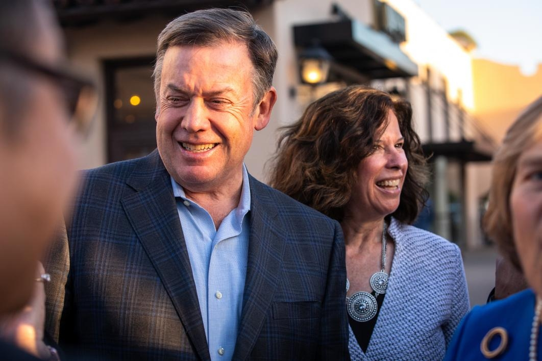 ASU President Michael Crow and his wife at an ASU GSV Summit reception