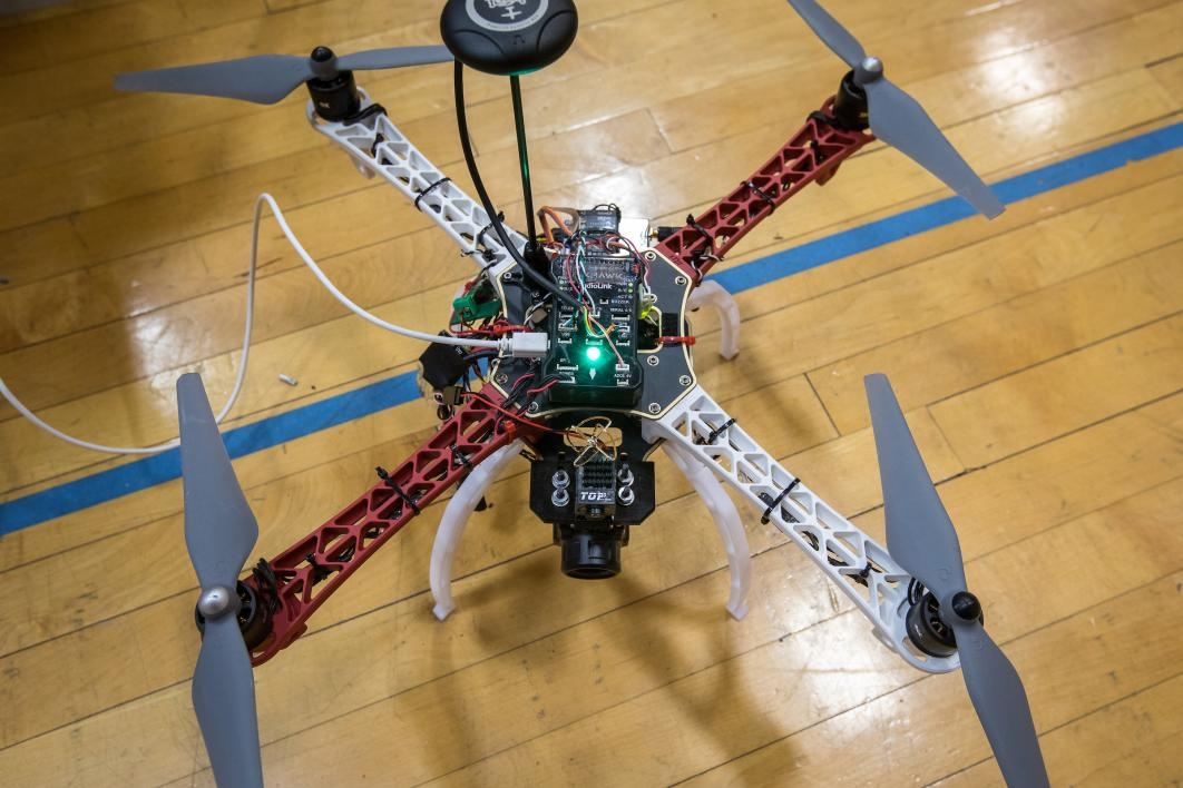 A student-built drone