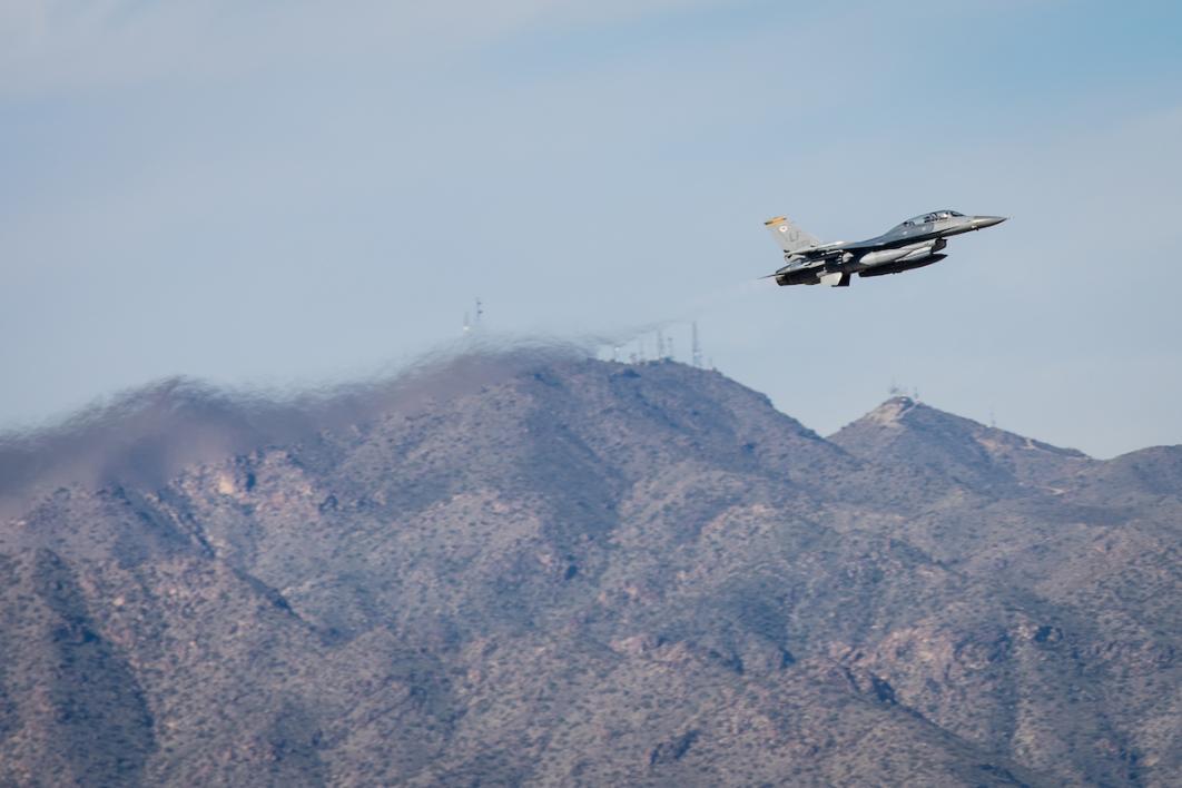 F-16D takeoff at Luke AFB