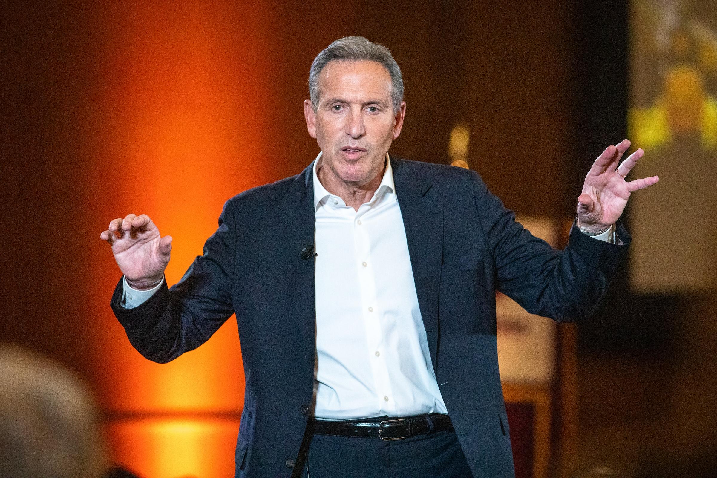 Howard Schultz of Starbucks speaks onstage