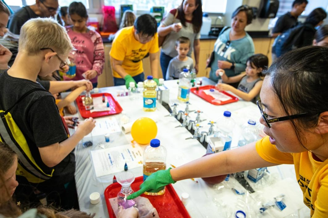 kids doing a science activity