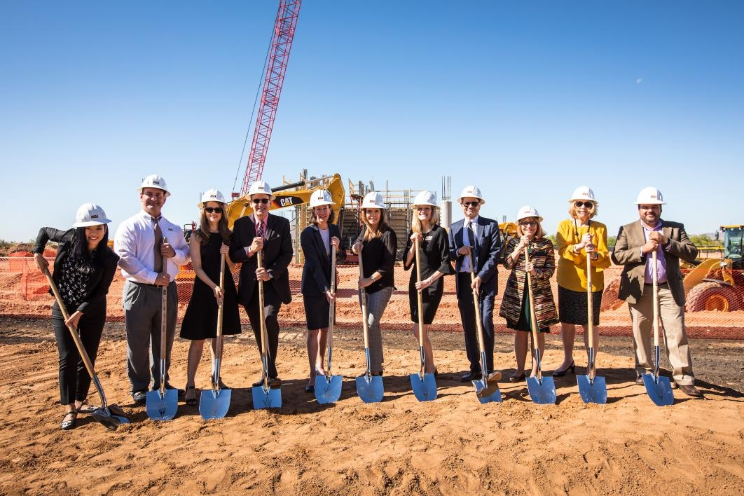 asu members at the groundbreaking