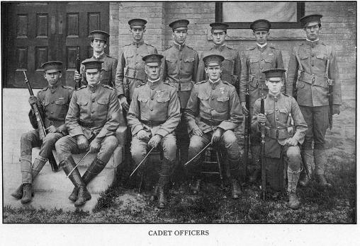 1914 photo of cadet officers at ASU