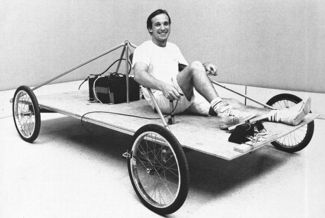 Solar car prototype from 1989-90 ASU yearbook