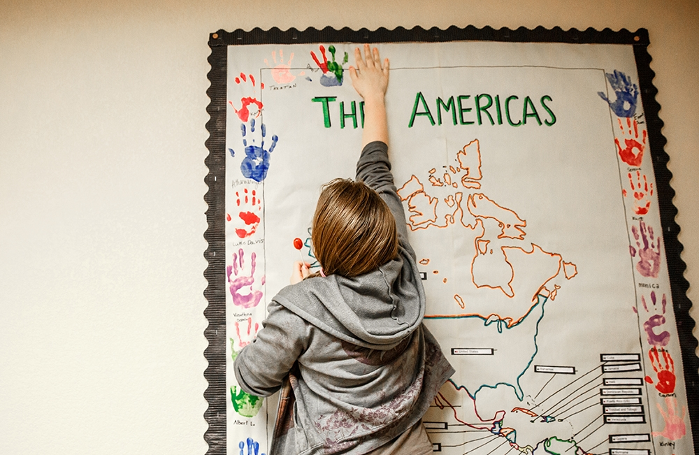 Putting a handprint on the map