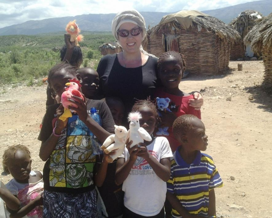 Community outreach in Haiti