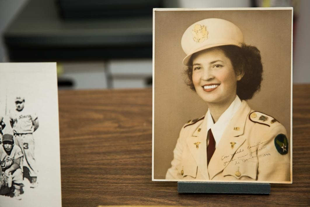 old portrait of woman in Air Force