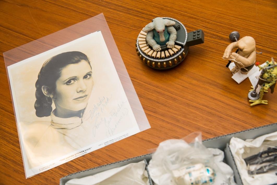 pieces of Star Wars memorabilia