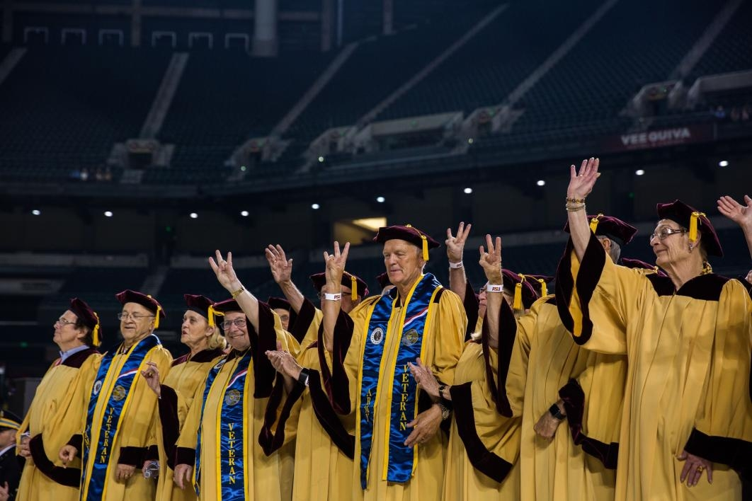 golden grads at ASU commencement