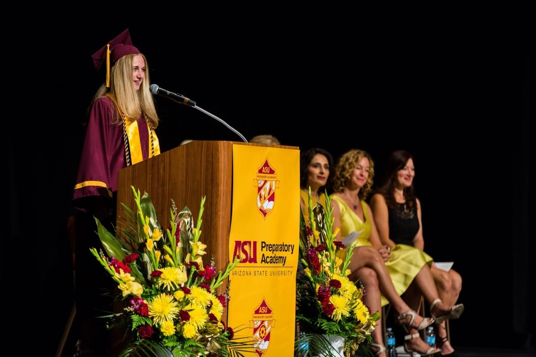 Student speaker at the ASU Prep-Polytechnic commencement