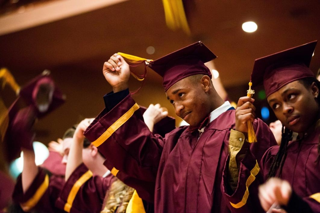 Students turn their tassels at the ASU Prep-Polytechnic commencement