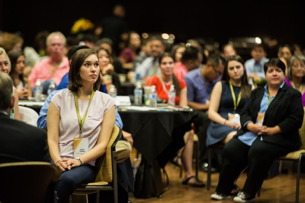 Attendees listen to speakers at the NASAI conference