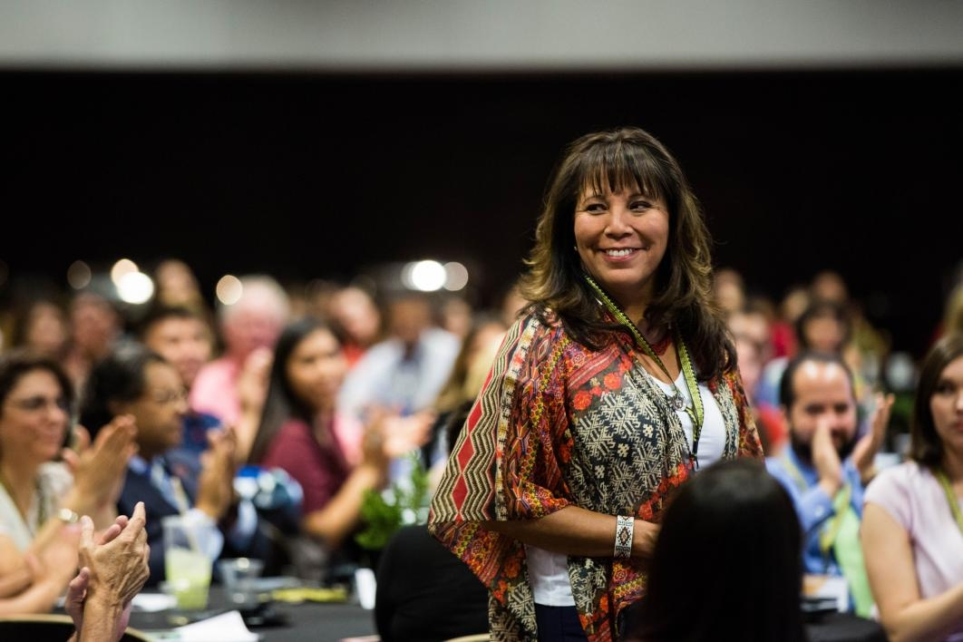 Karen Francis-Begay is recognized at the NASAI conference