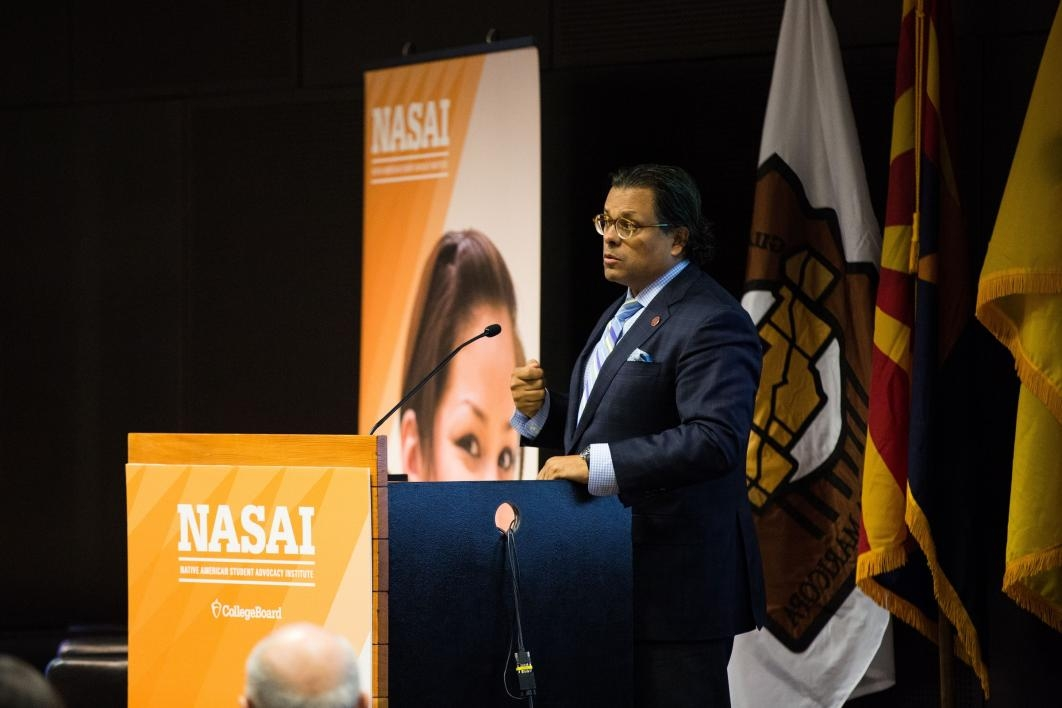 Bryan Brayboy speaks at the NASAI conference