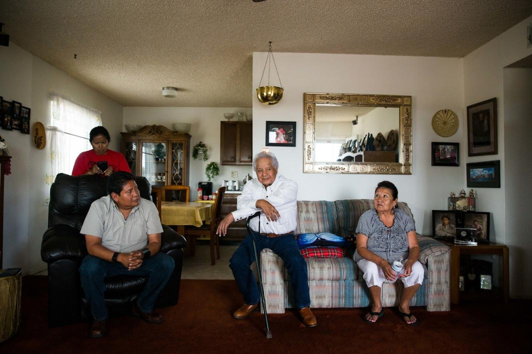 Ken Lucero with his family in Zia Pueblo