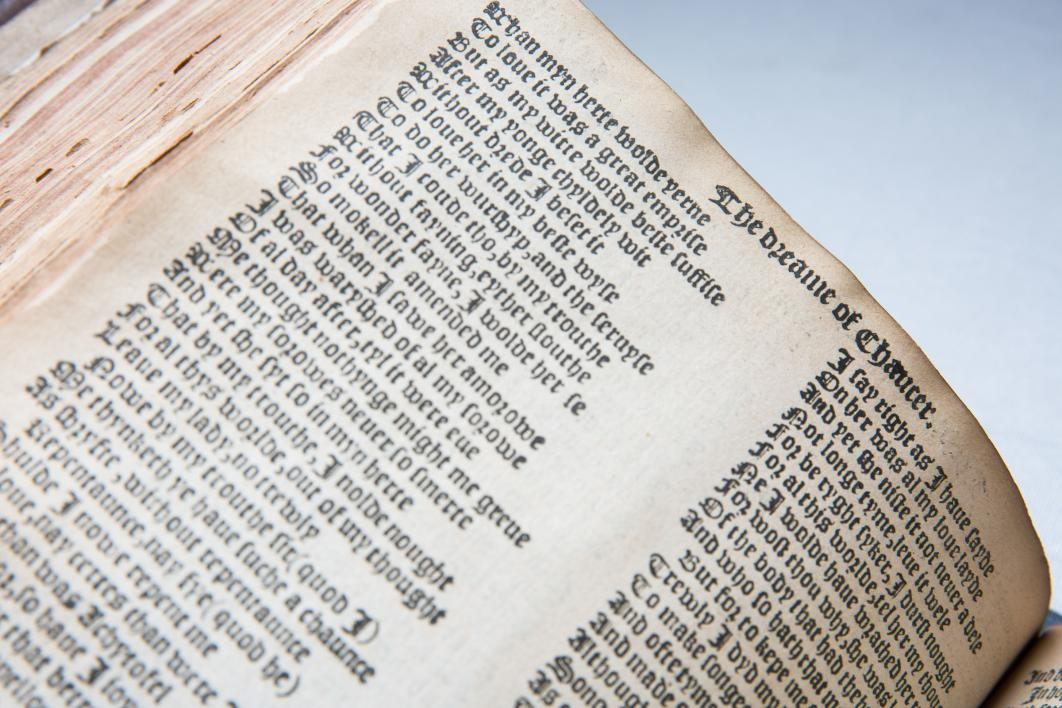 close up of medieval book text