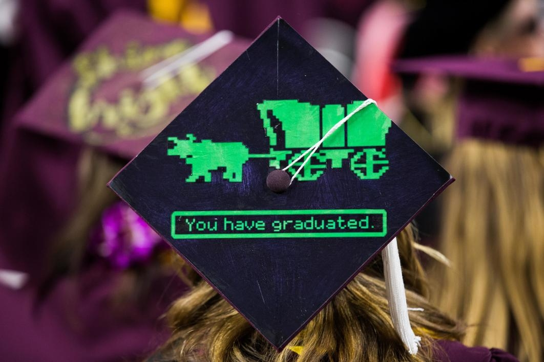 mortarboard at commencement