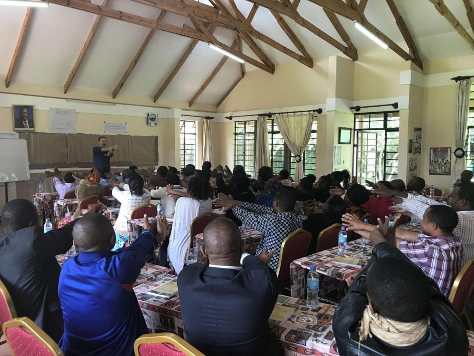 A teachers workshop is held in Tanzania