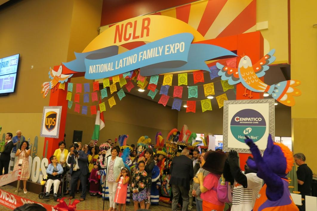 A crowd gathers for the opening of the National Latino Family Expo