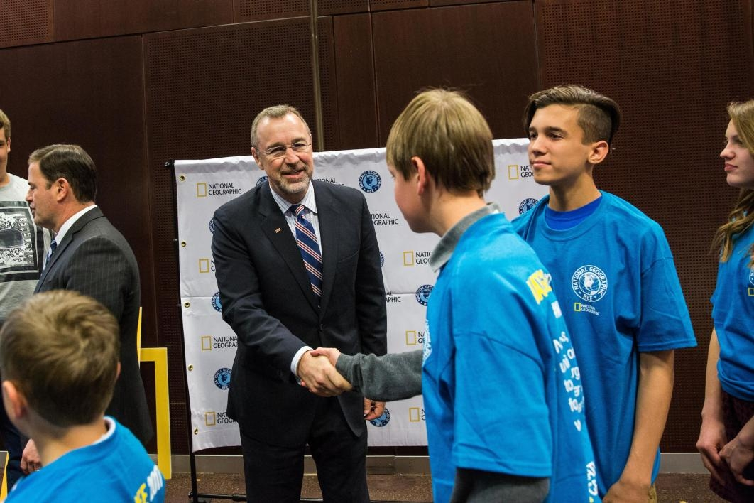 Governor praises geography bee contestants for dedication to STEM ...