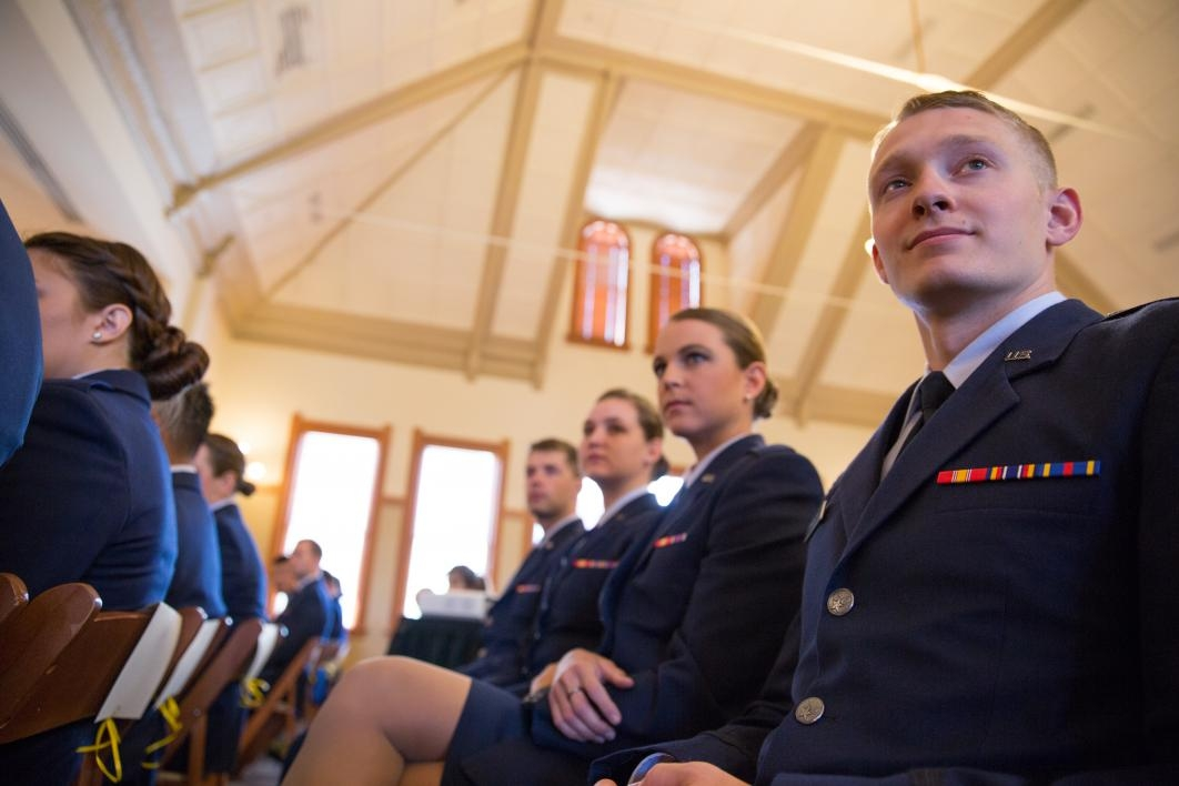 cadet watching ceremony