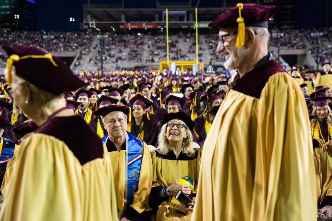 Golden Grads at commencement
