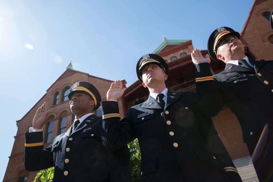 cadets taking oath