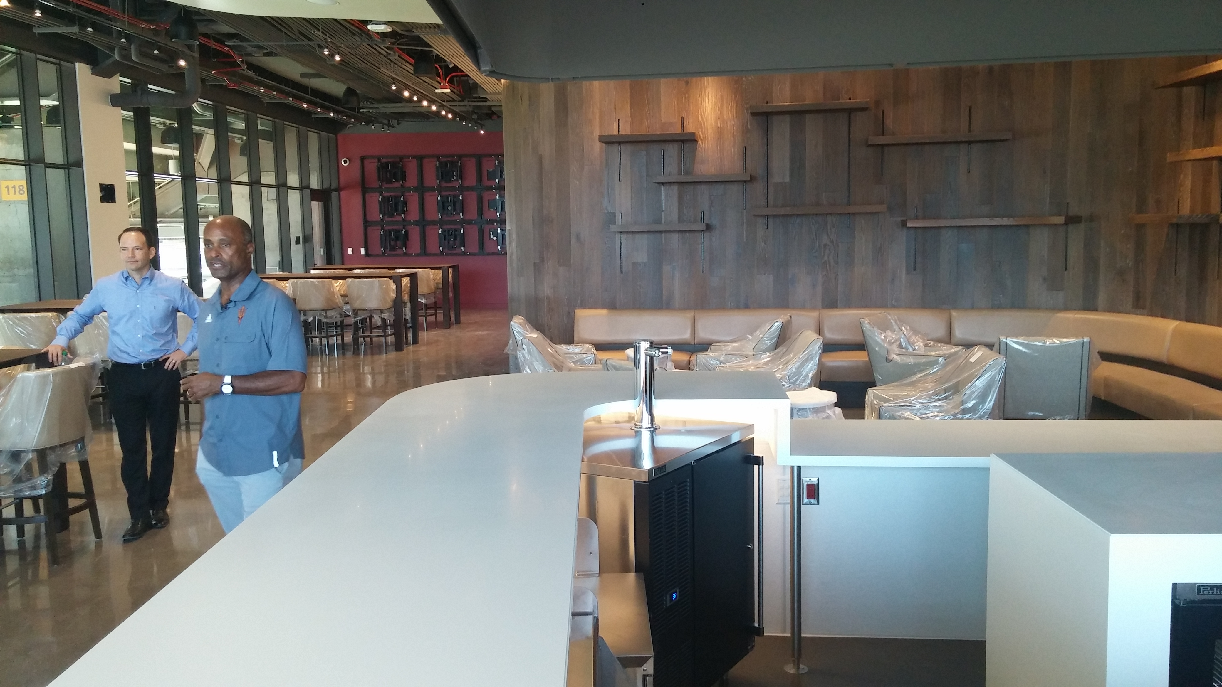A glimpse inside the new club level at Sun Devil Stadium