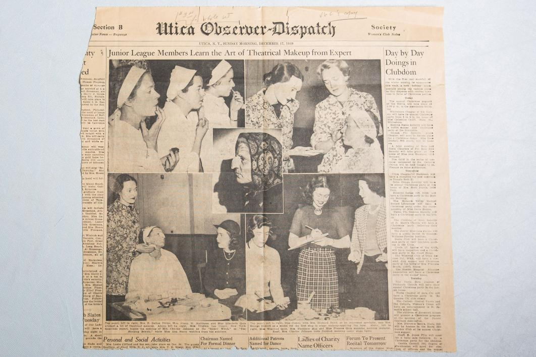 An old newspaper clipping from the ASU Child Drama Collection