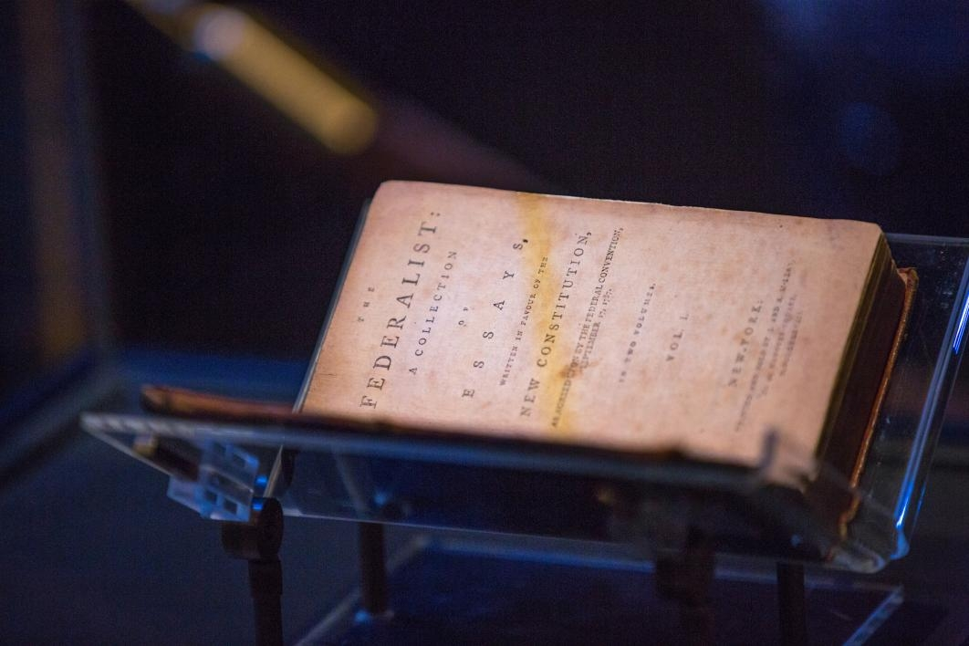 Federalist Papers in a case at ASU Gammage