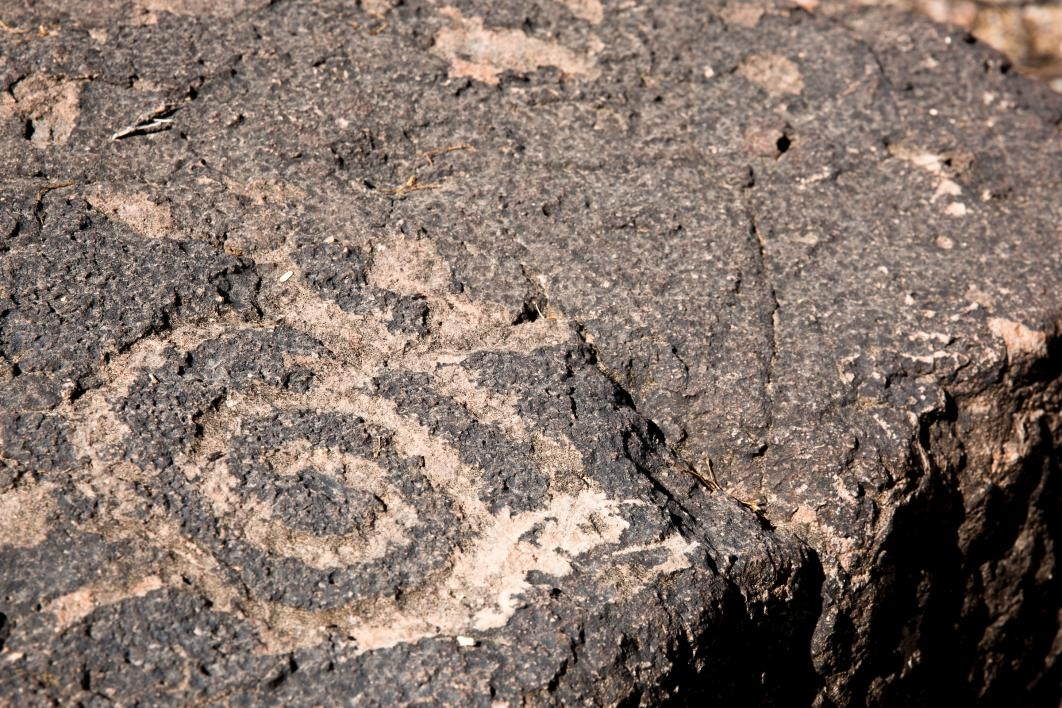 Petroglyphs on rocks