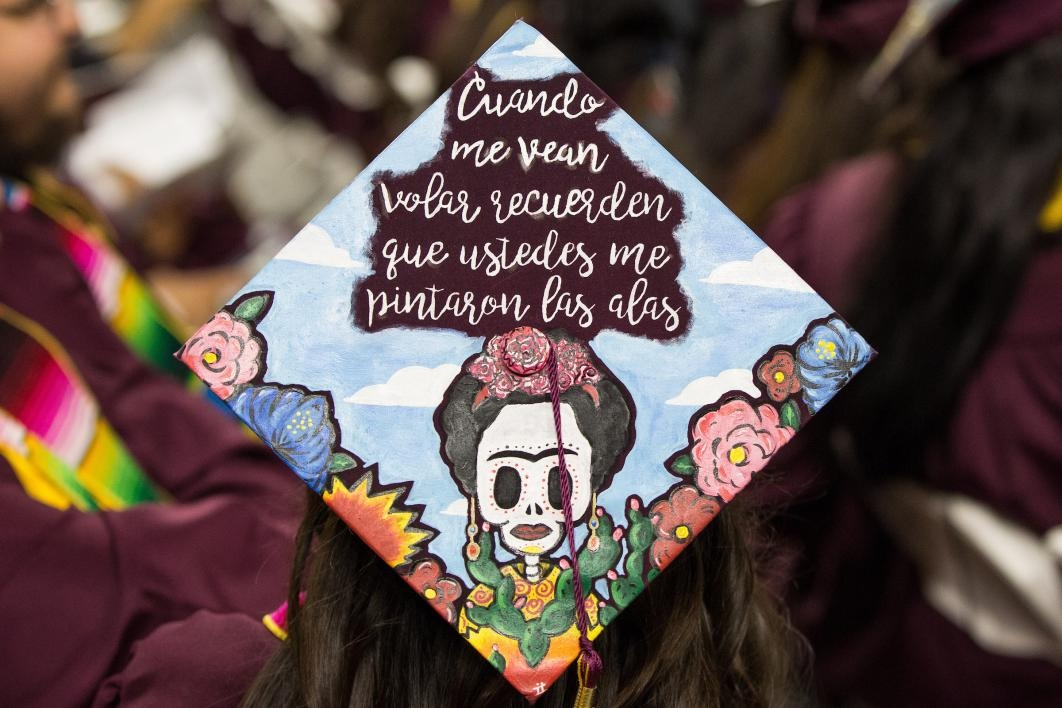 ASU commencement mortarboards