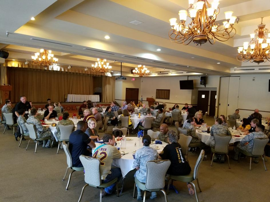 ASU faculty, staff, students dine with Airmen