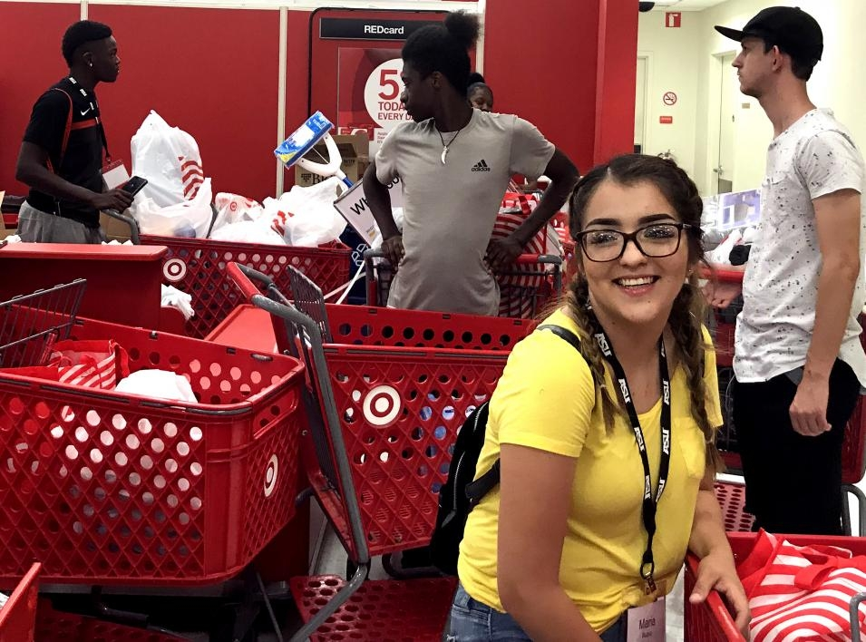 Bridging Success Early Start students at the Target registers