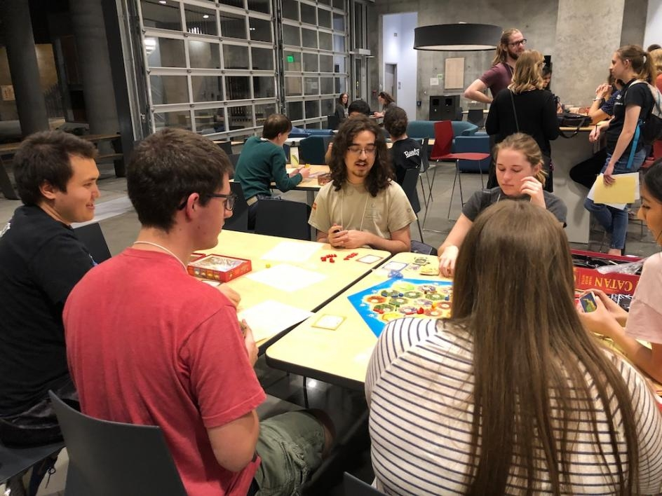 ASU students had fun playing board games and meeting students from other universities.