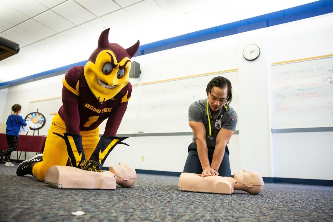 sparky doing cpr