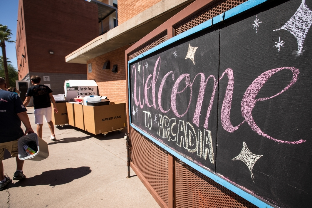 welcome sign at arcadia