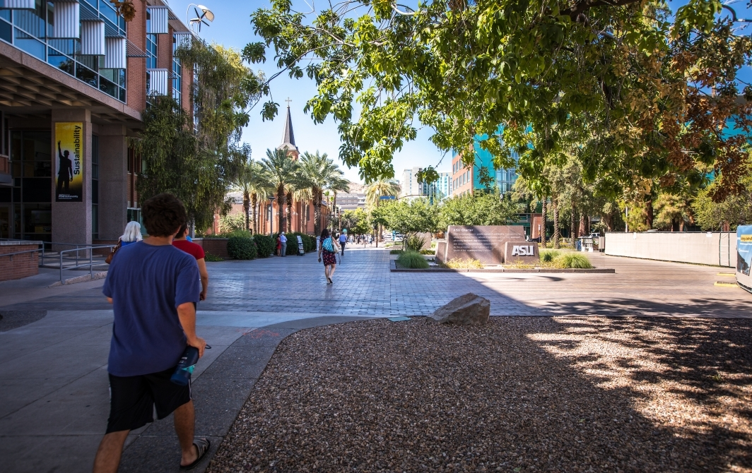 Tempe campus looking north toward A Mountain