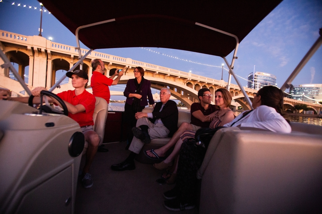 Sunset cruise on Tempe Town Lake