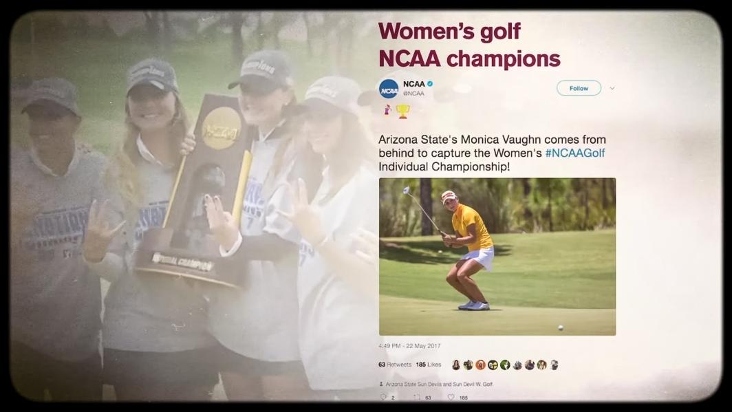 Screenshot of womens golf team championship