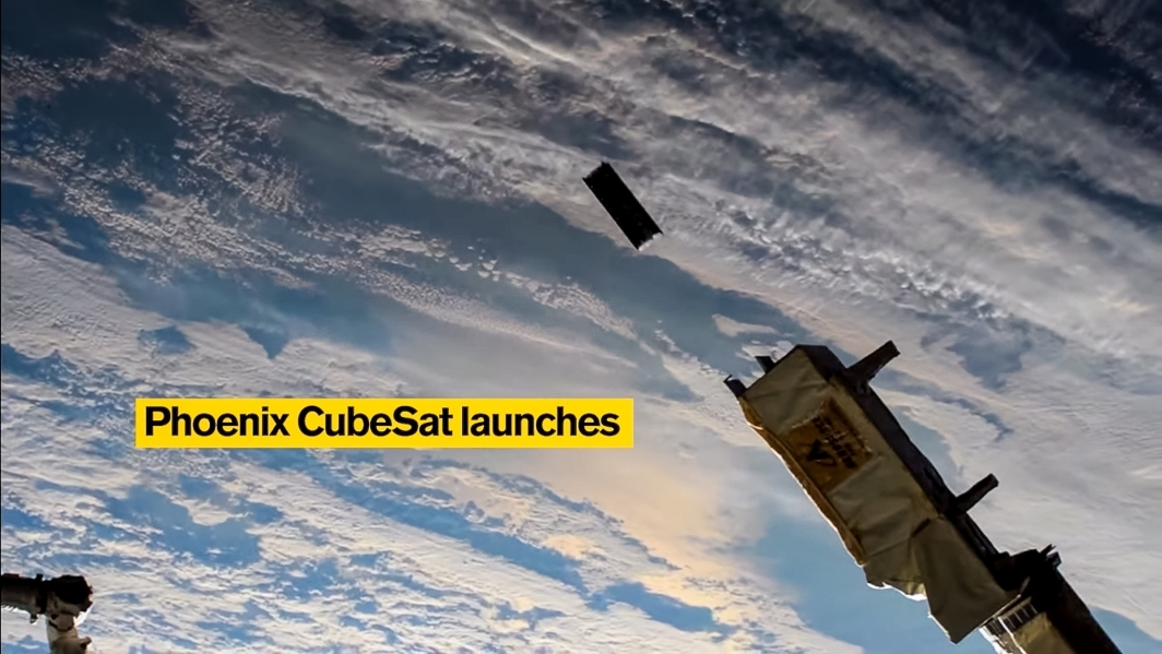 A CubeSat satellite is launched into space