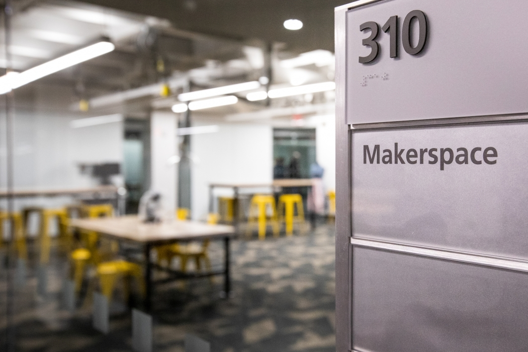 view of Makerspace room
