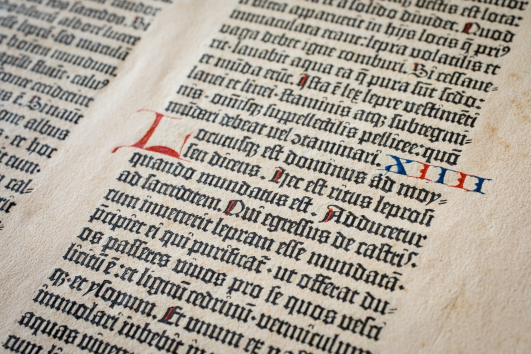 page from the Gutenberg Bible