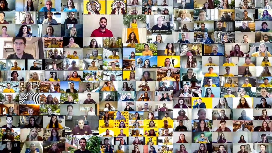 collage of hundreds of portraits