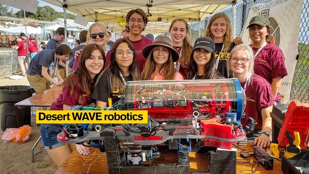 A screenshot showing the ASU underwater robotics team Desert WAVE