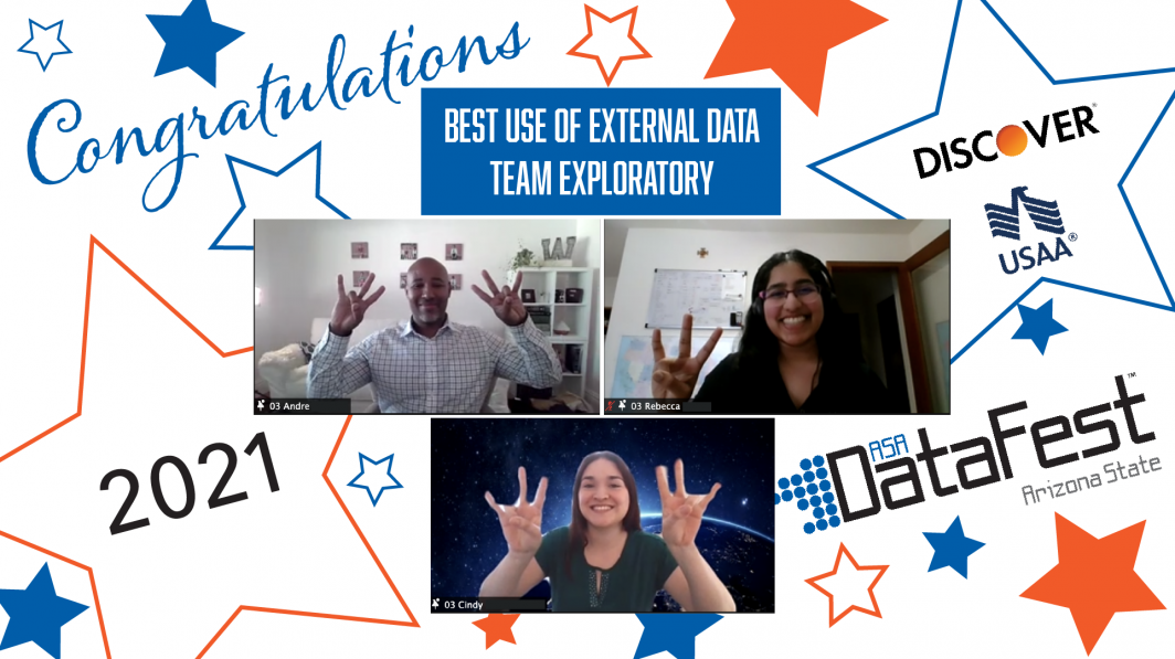Team Exploratory wins Best Use of External Data award in ASA DataFest 2021