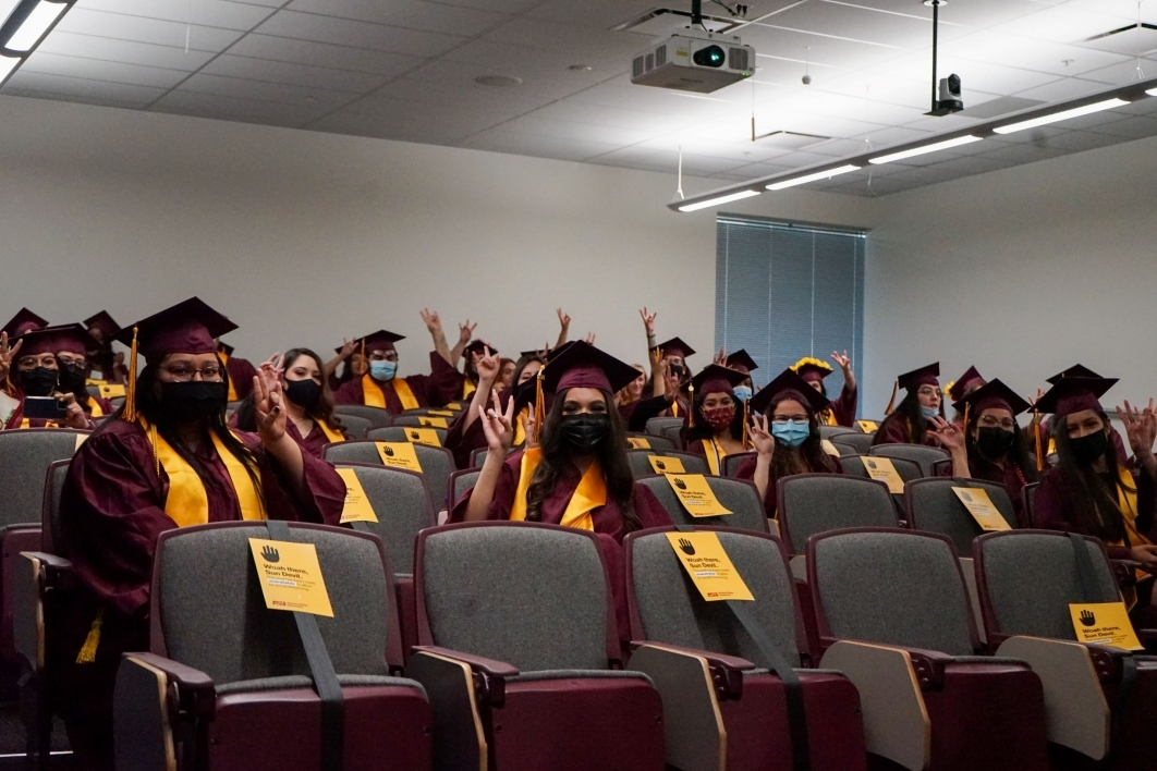 Spring 2021 graduates, Watts College of Public Service and Community Solutions, watch party
