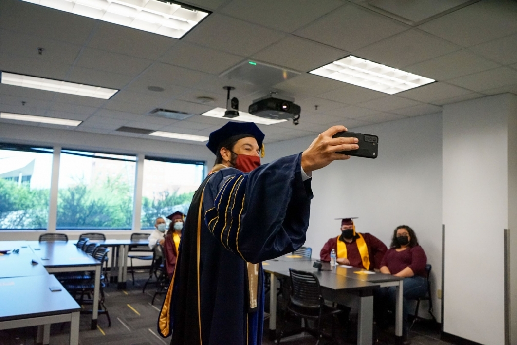 Jonathan Koppell, selfie, convocation, spring 2021, dean, Watts College of Public Service and Community Solutions, ASU