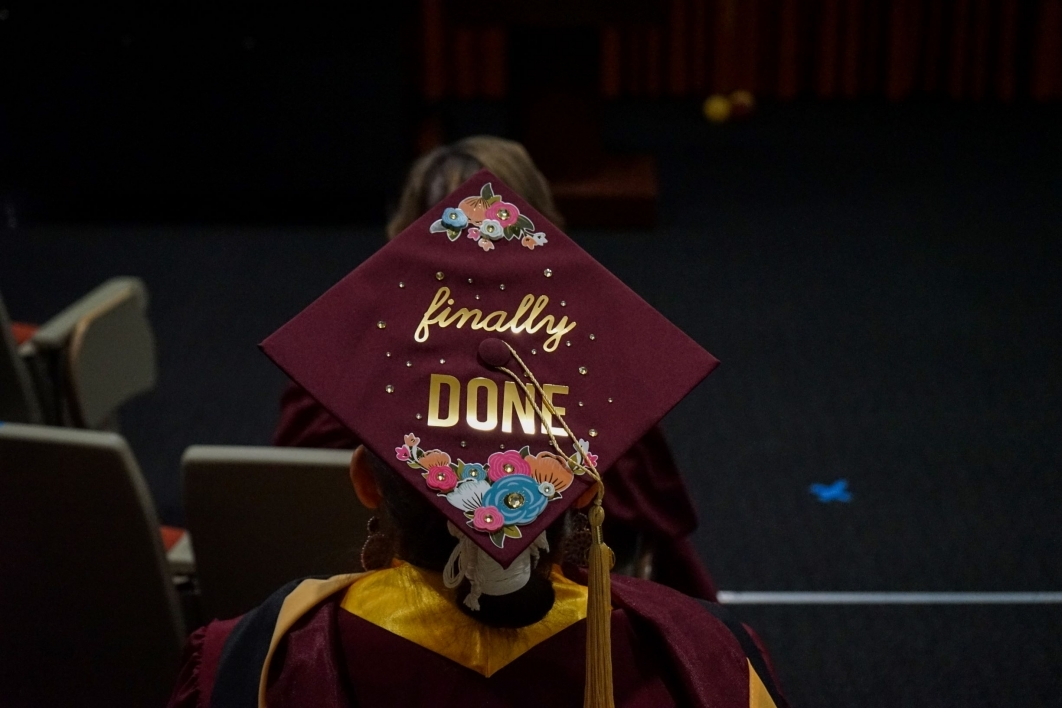 Graduate, mortarboard, finally done, Watts College of Public Service and Community Solutions, spring 2021, convocation